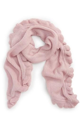 Women's Rebecca Minkoff Ruffle Muffler, Size - Pink