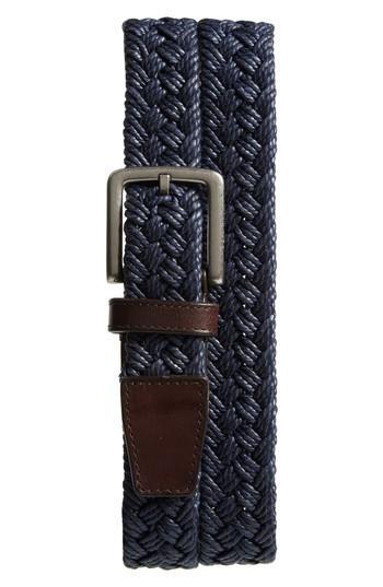 Men's Cole Haan Woven Belt - Marine Blue