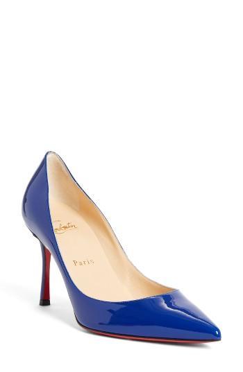 Women's Christian Louboutin Decoltish Pointy Toe Pump .5us / 35.5eu - Blue