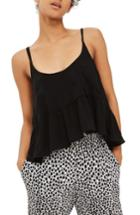 Women's Topshop Peplum Camisole Us (fits Like 6-8) - Black