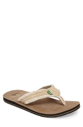 Men's Sanuk 'fraid Not' Flip Flop M - Beige