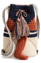 Sole Society Halay Woven Bucket Bag - Brown