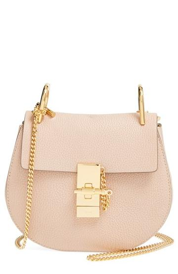 Chloe 'small Drew' Leather Shoulder Bag - Pink