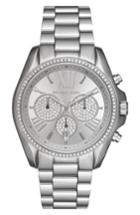 Women's Michael Kors Bradshaw Crystal Pave Chronograph Bracelet Watch, 43mm