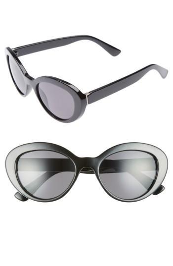 Women's Bp. 50mm Vintage Cat Eye Sunglasses - Black