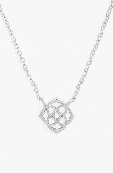 Women's Kendra Scott 'decklyn' Pendant Necklace - Silver