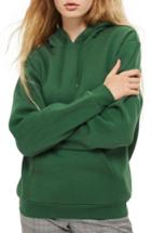 Women's Topshop Oversize Hoodie Us (fits Like 2-4) - Green