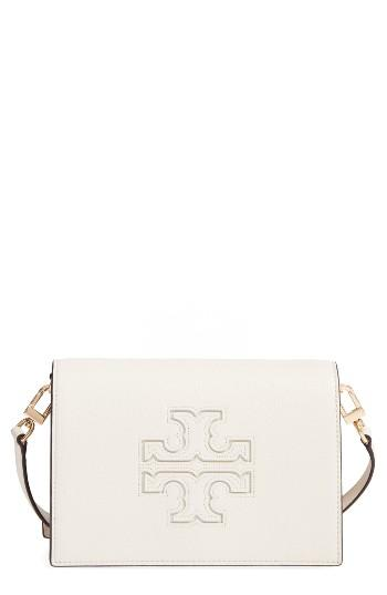 Tory Burch Harper Leather Clutch - White