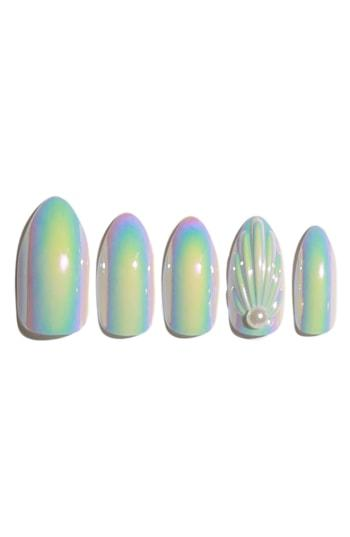 Static Nails Mermaids Are Real Holographic Pop-on Reusable Manicure Set - Mermaids Are Real