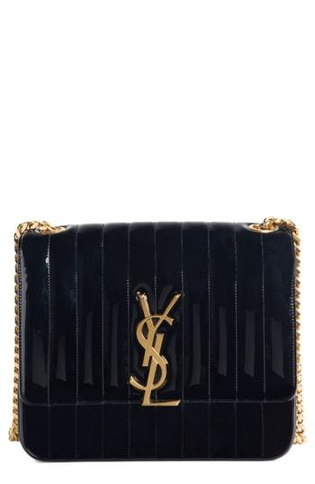Saint Laurent Large Vicky Patent Leather Crossbody Bag -