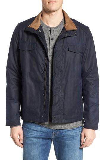 Men's Barbour Lomond Waxed Cotton Jacket - Blue
