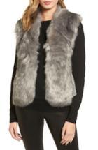 Women's Love Token Faux Fur Knit Vest