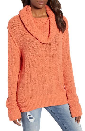 Women's Caslon Cuff Sleeve Sweater - Orange