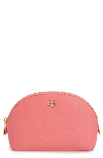 Tory Burch 'small Robinson' Leather Cosmetics Case, Size - Cosmo