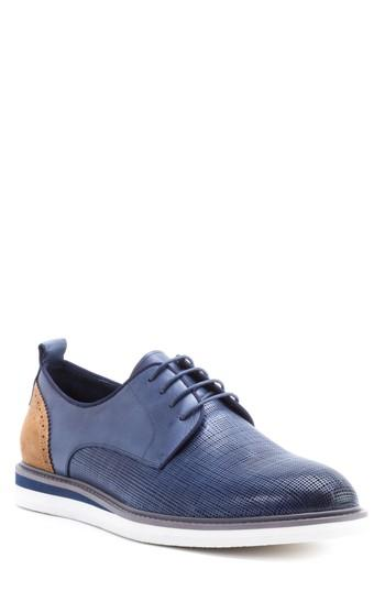Men's Zanzara Stem Textured Plain Toe Derby M - Blue