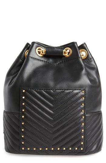 Rebecca Minkoff Becky Convertible Leather Backpack - Black