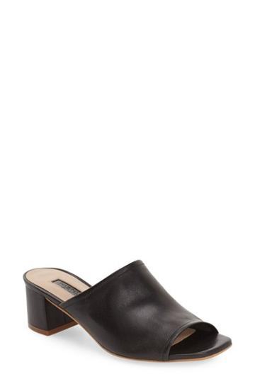 Women's Topshop 'nino' Open Toe Mule .5us / 36eu - Black