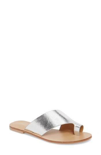 Women's Chinese Laundry Glory Asymmetrical Slide Sandal M - Metallic