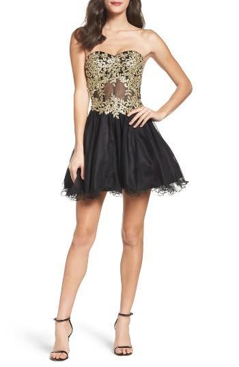 Women's Blondie Nites Strapless Bustier Dress - Black