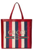 Gucci Stripe Canvas Tote -
