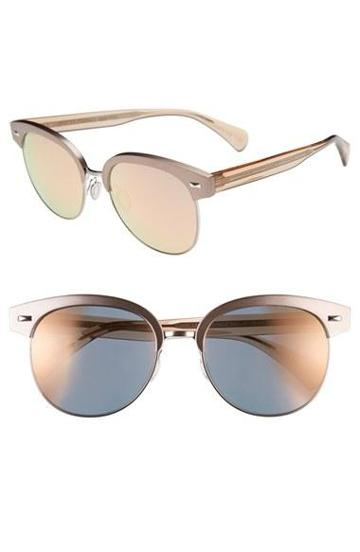 Women's Oliver Peoples 'shaelie' 55mm Sunglasses Shell/ Silver