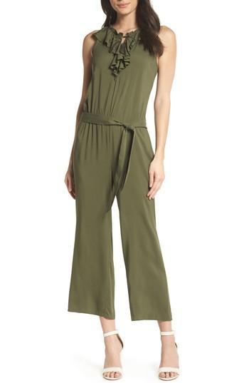 Women's Paige Paletta Tie-waist Jumpsuit - Green