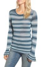Women's Hinge Gradient Stripe Sweater, Size - Blue