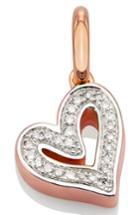 Women's Monica Vinader Alphabet Heart Diamond Pendant