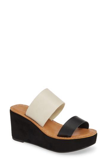 Women's Chinese Laundry Ollie 2 Wedge Slide Sandal M - Black