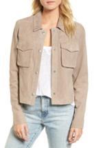 Women's Ag Ari Suede Trucker Jacket - Beige