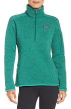 Women's Patagonia 'better Sweater' Zip Pullover - Green