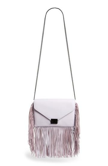 Loeffler Randall 'lock' Fringe Clutch - Purple