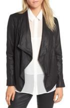 Women's Bb Dakota Lambskin Leather Jacket - Black
