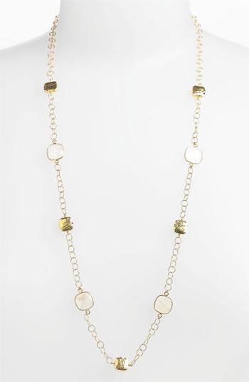 Argento Vivo 'bauble Bar' Long Square Station Necklace (nordstrom Exclusive) Gold/ Moonstone