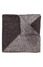 Men's Hook + Albert Geometric Silk Pocket Square, Size - Grey