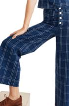 Women's Madewell Emmett Wide Leg Crop Pants - Blue