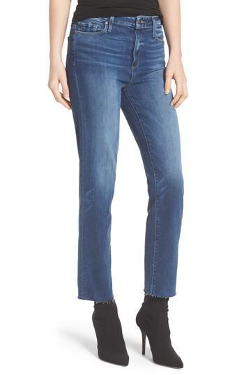 Women's Paige Transcend - Hoxton Ankle Straight Leg Jeans - Blue