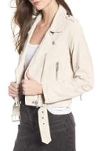 Women's Blanknyc Suede Moto Jacket - Ivory