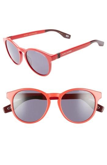 Women's Marc Jacobs 52mm Round Sunglasses - Red