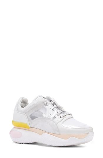 Women's Fendi Fancy Lace-up Sneaker .5us / 36eu - White