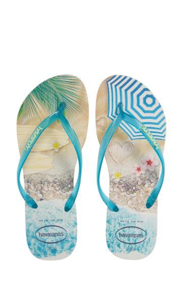 Women's Havaianas 'slim Paisage' Flip Flop /36 Br - Blue/green