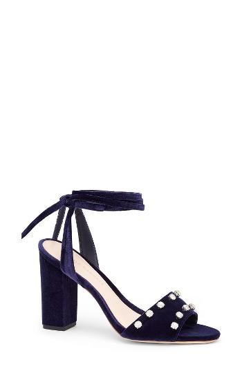 Women's Loeffler Randall Elayna Ankle Wrap Sandal M - Blue
