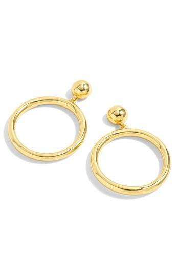 Women's J.crew Gold Circle Drop Earrings