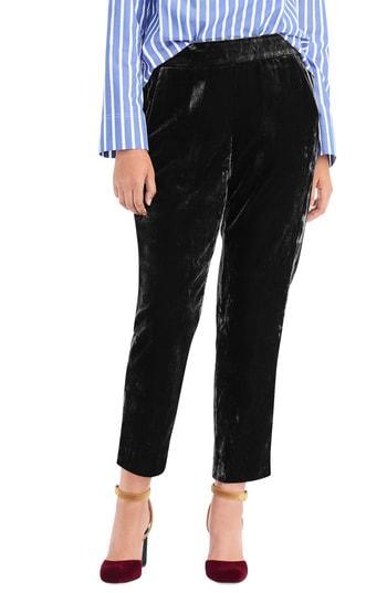 Petite Women's J.crew Velvet Pull-on Easy Pants P - Black