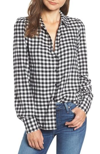 Women's Paige Enid Check Shirt - Black