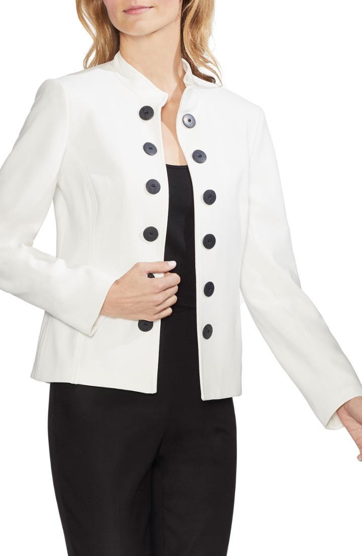 Women's Vince Camuto Stand Collar Jacket - Ivory