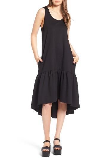 Women's Leith Flounce Midi Dress - Black