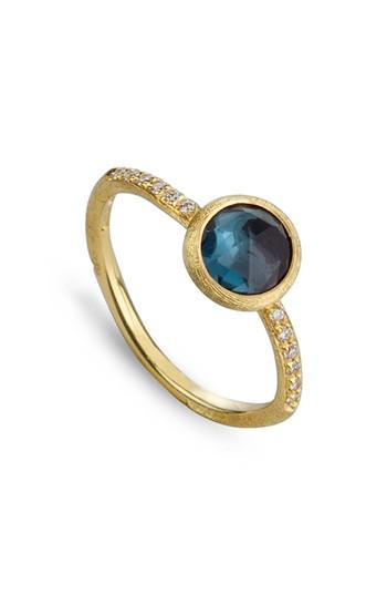 Women's Marco Bicego 'jaipur' Tourmaline & Pave Diamond Stackable Ring