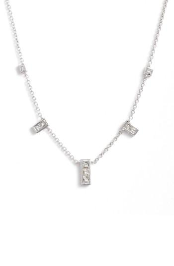 Women's Bony Levy Diamond Rectangle Dangle Station Necklace (nordstrom Exclusive)