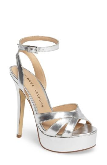 Women's Chinese Laundry Alyssa Strappy Platform Sandal .5 M - Metallic